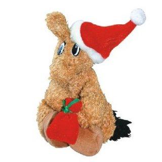 Plüschpferdchen als Weihnachtsmann